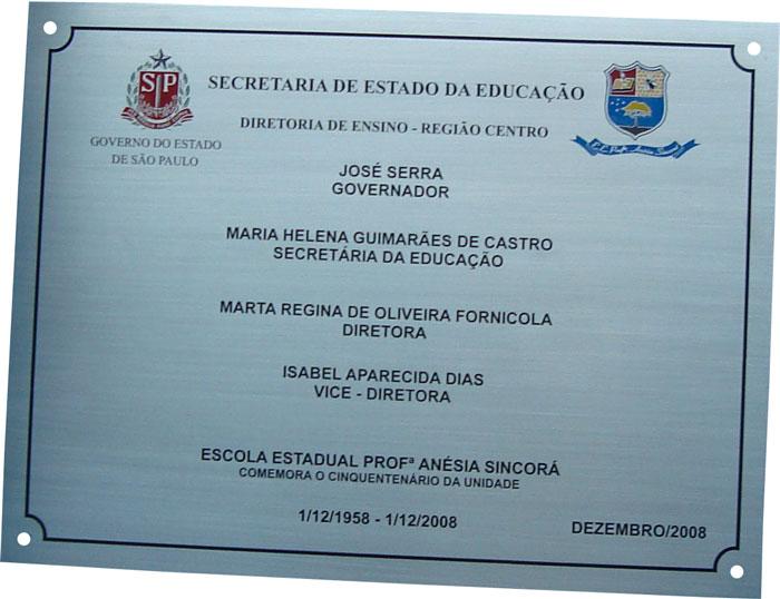 Placas de inauguração