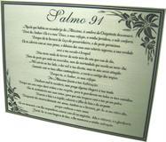 Placa para jazigo com gravação do salmo 91.