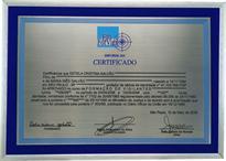 Réplica de certificado de formação no curso de vigilante.