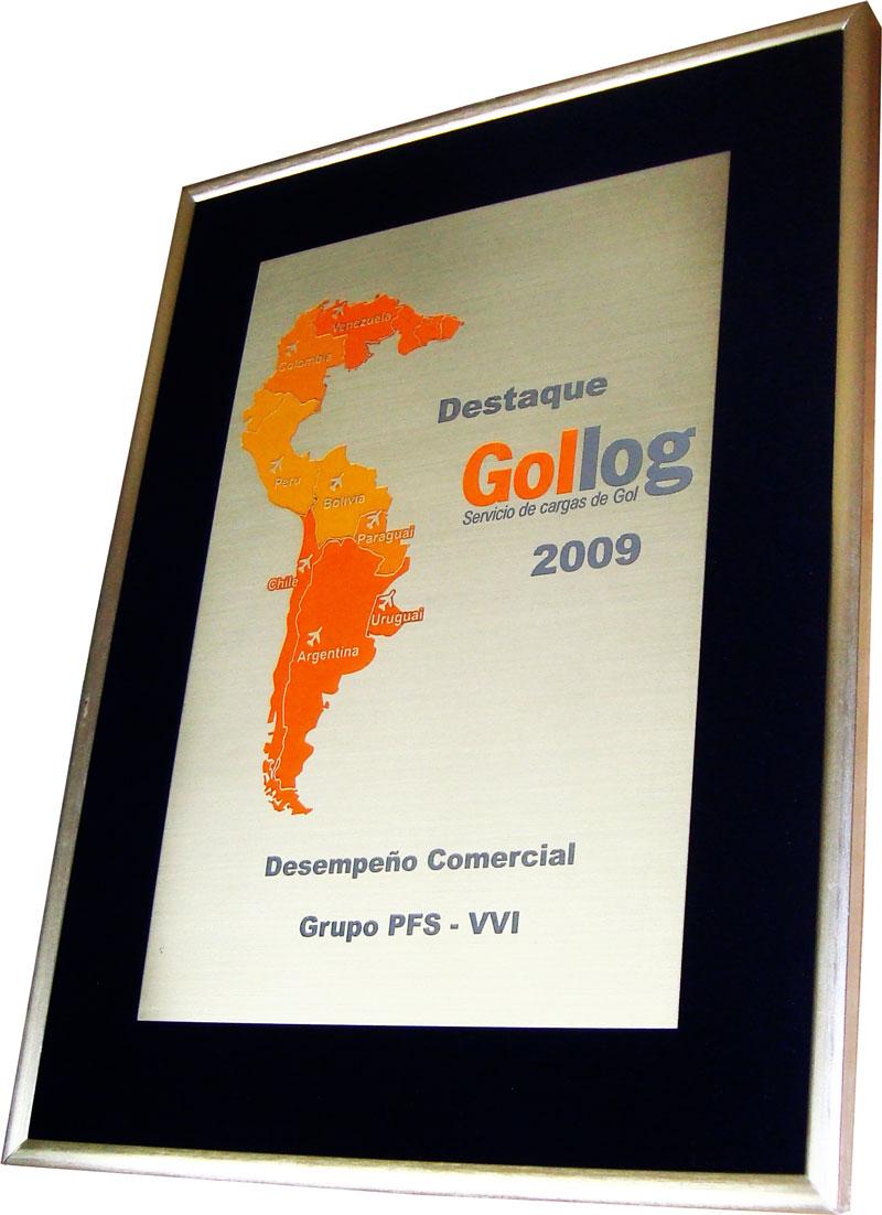Réplica de certificado por desempenho comercial concedida à empresa parceira.